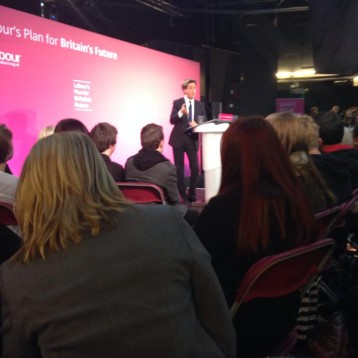 Ed Miliband visits Sheffield to listen to the opinions of the next generation