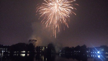 Fireworks Display Welcomes New Chancellor